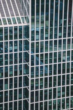 High angle view of modern skyscraper in Frankfurt, Germany stock vector