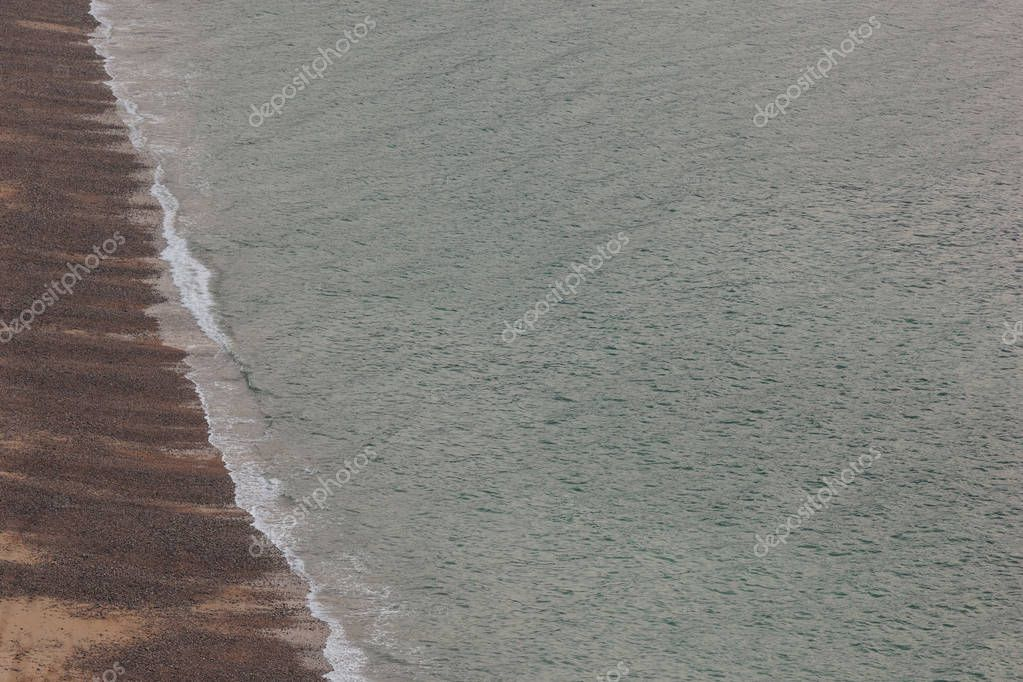 aerial view of scenic seashore at Etretat, France