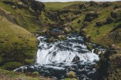 Fotografie scenic view of beautiful Skoga river canyon in Iceland