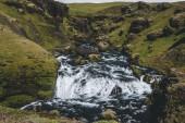 Fotografie malebný pohled krásné Skoga říční kaňon Islandu