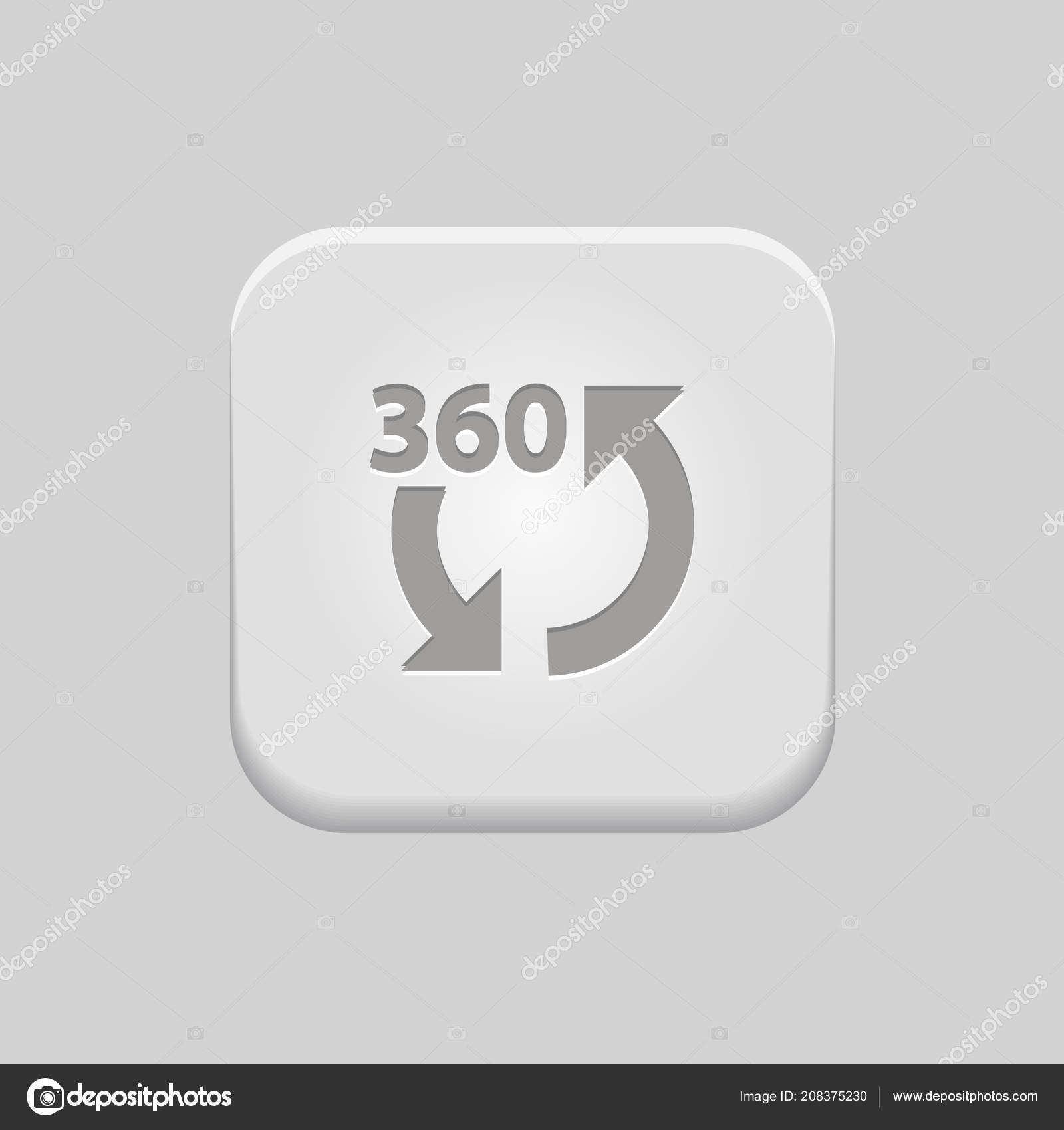 360 - Web Push Button — Vector by kreizihorse