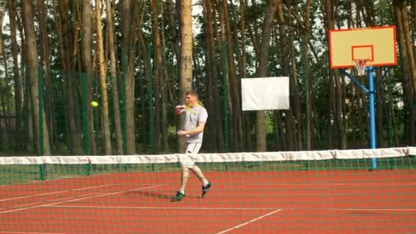 Tenista bodování mečbol a vítězná hra