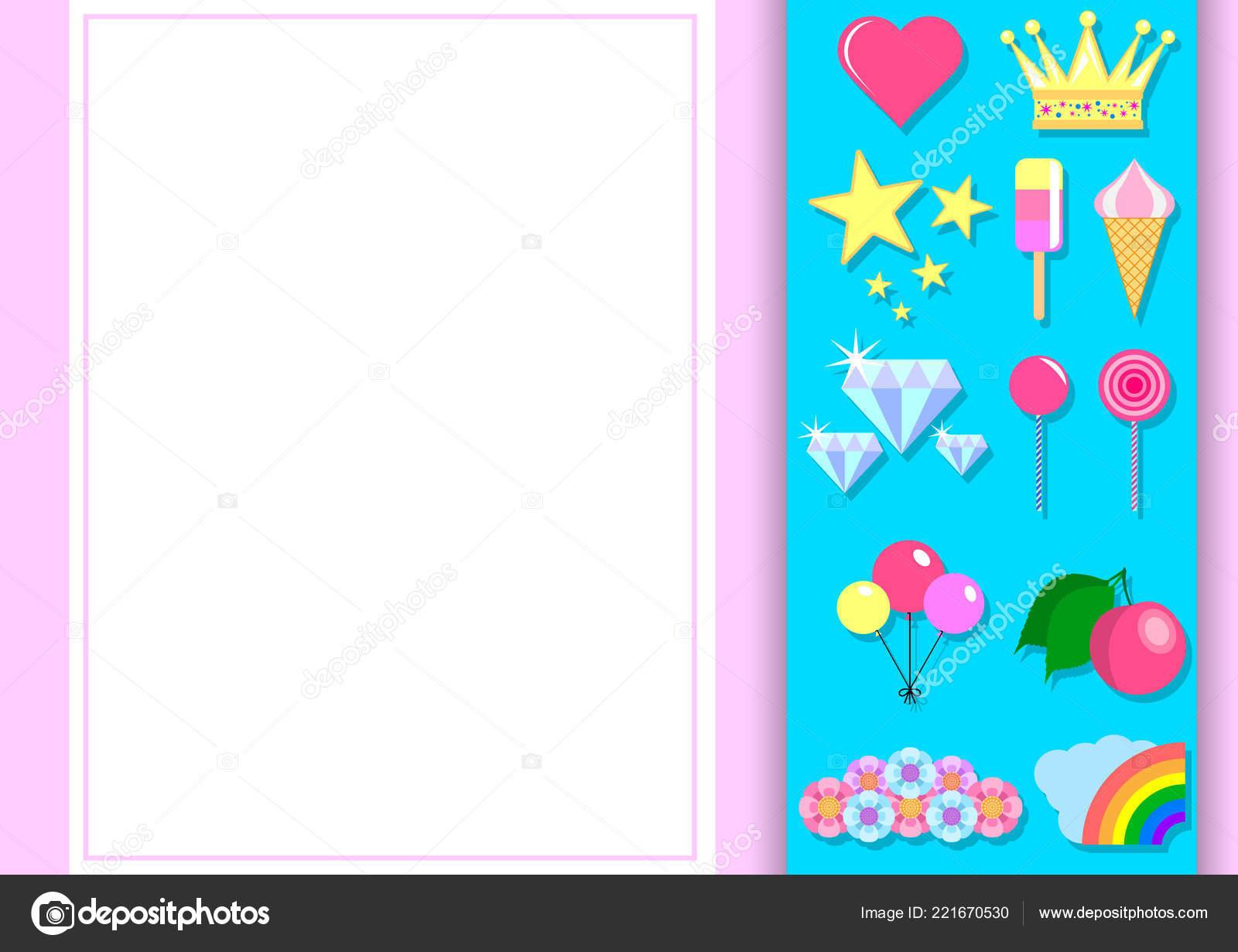 Typographic Design For Greeting Birthday Invitation Card