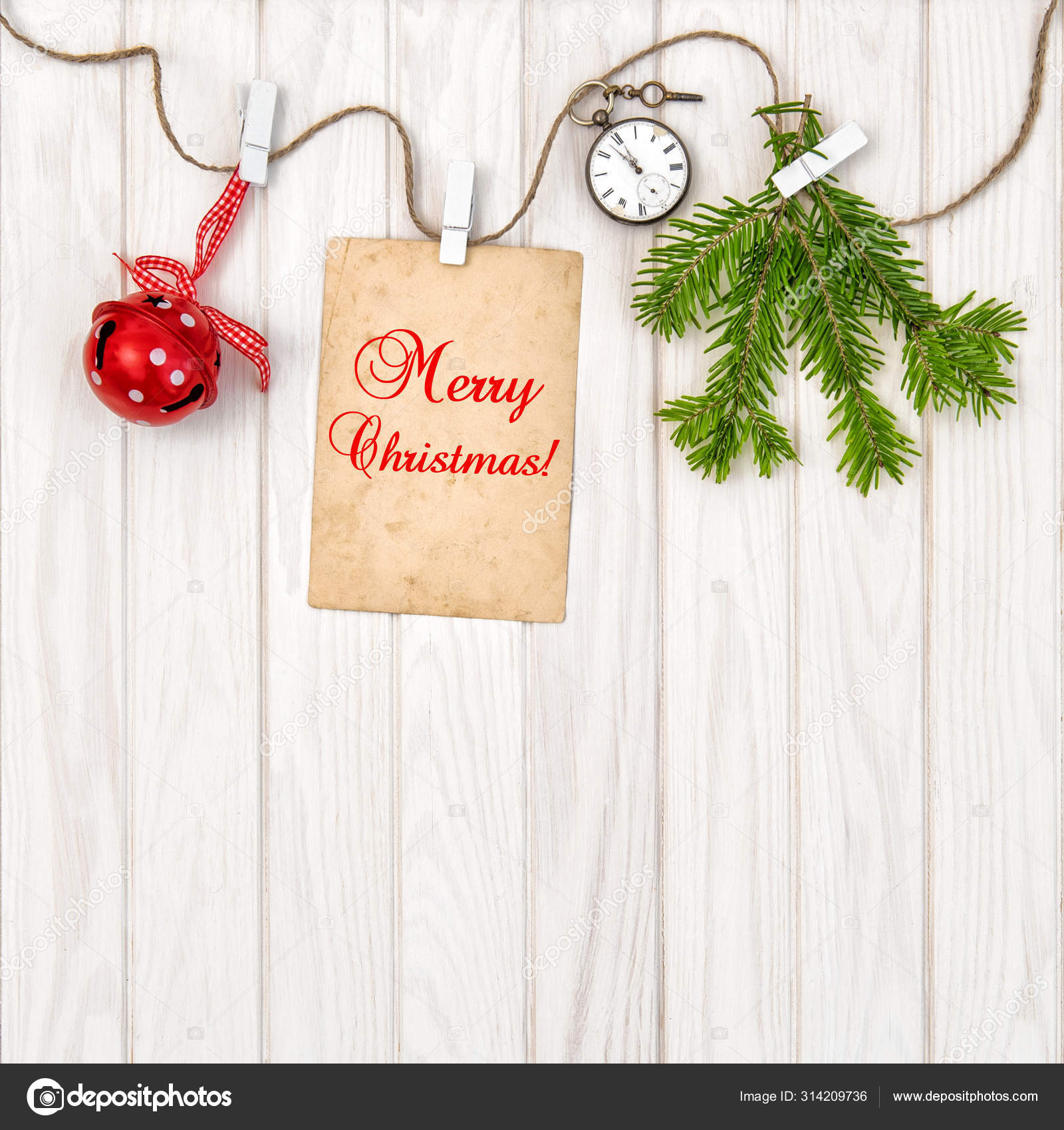 Christmas Decorations Greeting Card Christmas Tree Branches