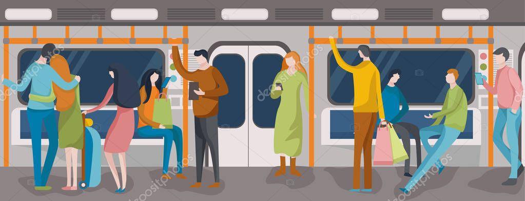 картинки человечки в метро современные граждане
