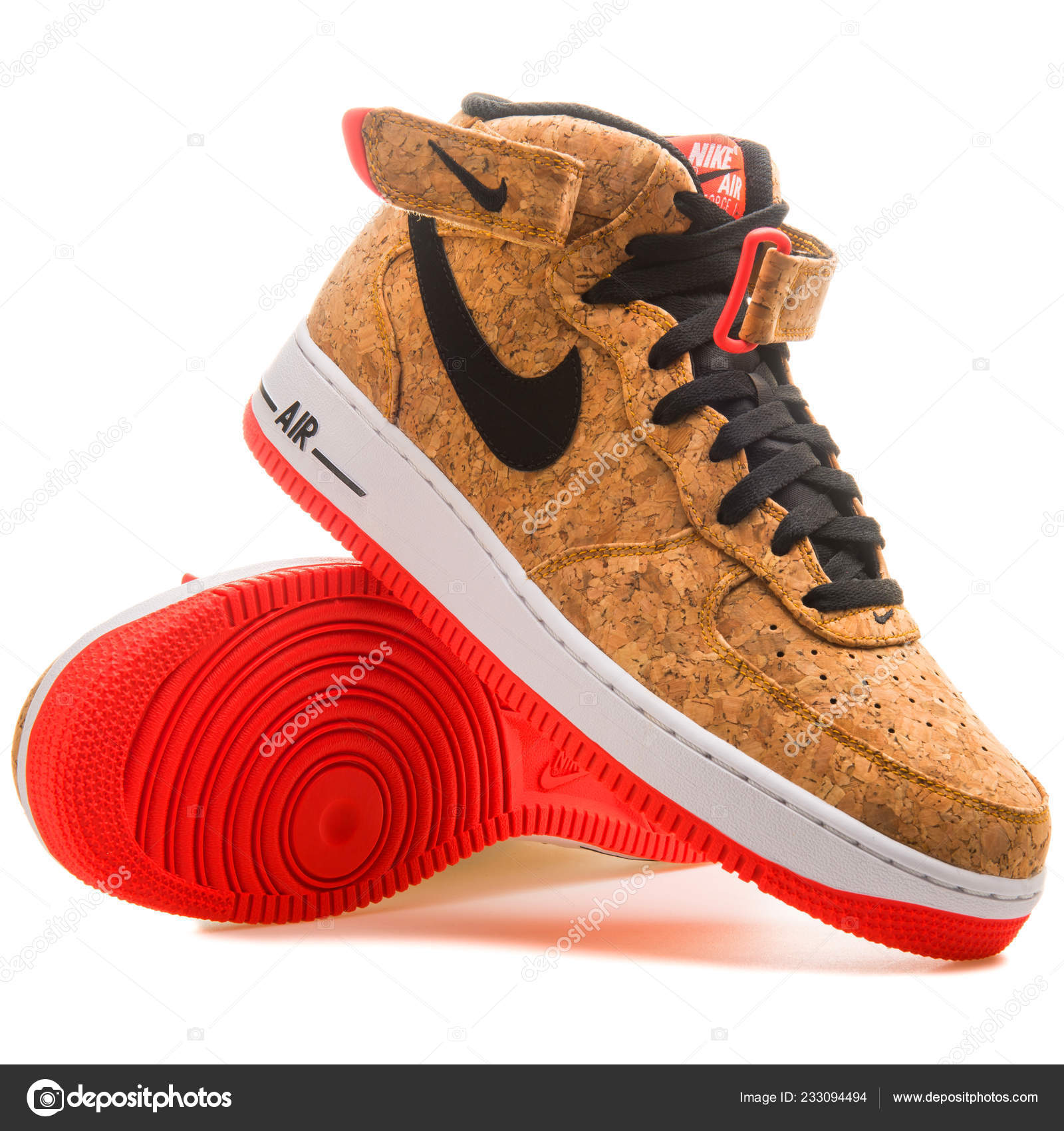 Vienna Austria June 2017 Nike Air Force Mid Cork Sneaker – Stock ... 846861ef8
