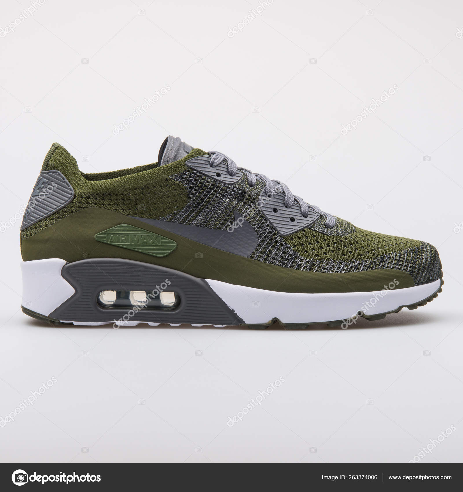 Nike Air Max 90 Ultra 2.0 Flyknit zapatillas verdes y grises