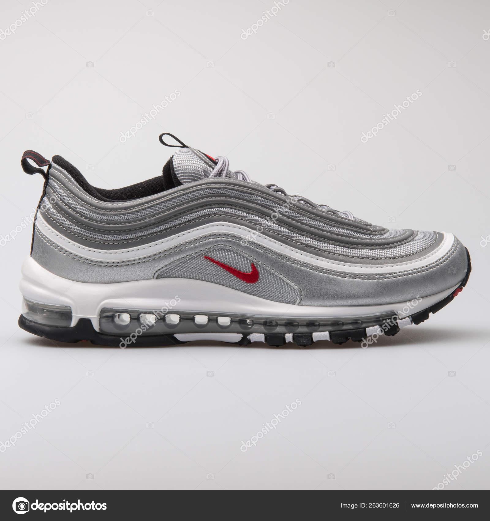 f3f4a88c Nike Air Max 97 OG QS metallic silver sneaker – Stock Editorial ...