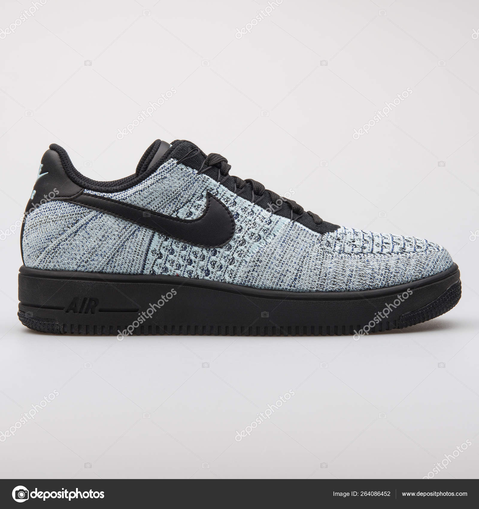 2a4d3957 Nike Air Force 1 Ultra Flyknit Low grey and black sneaker — Stock Photo