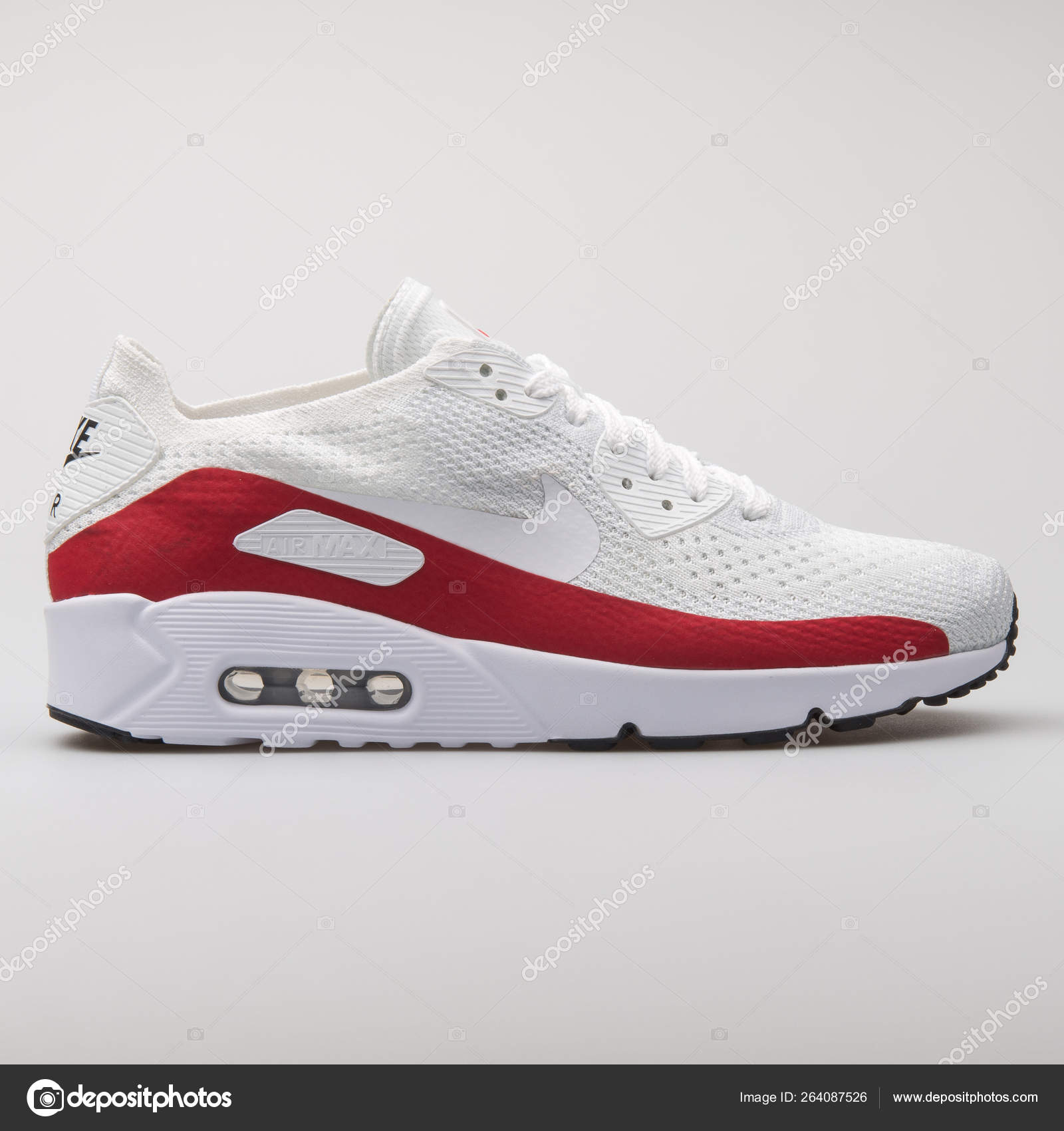 new products 4fd32 b3bc0 Nike Air Max 90 Ultra 2.0 Flyknit white and red sneaker ...