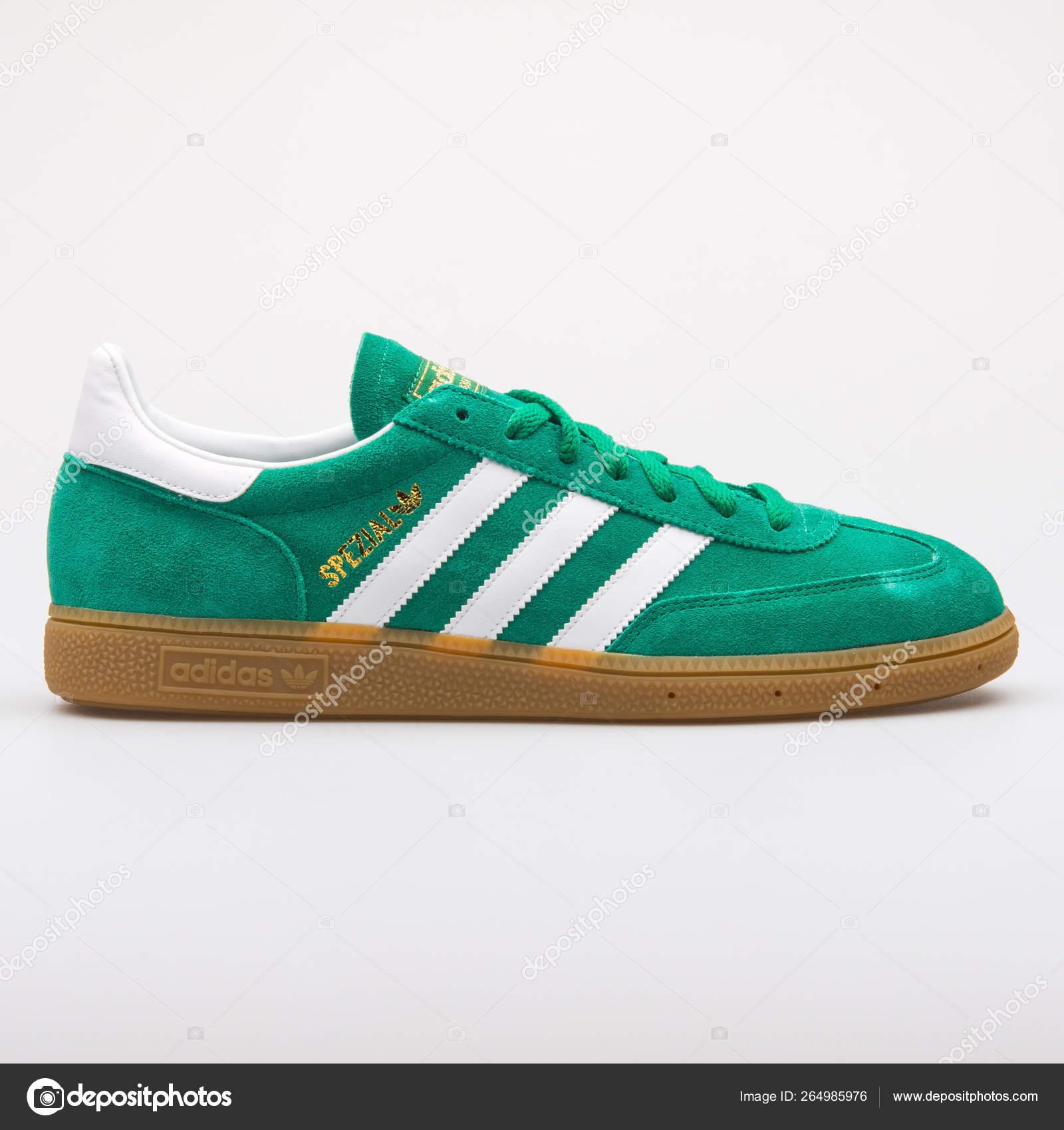Adidas Spezial green and white sneaker