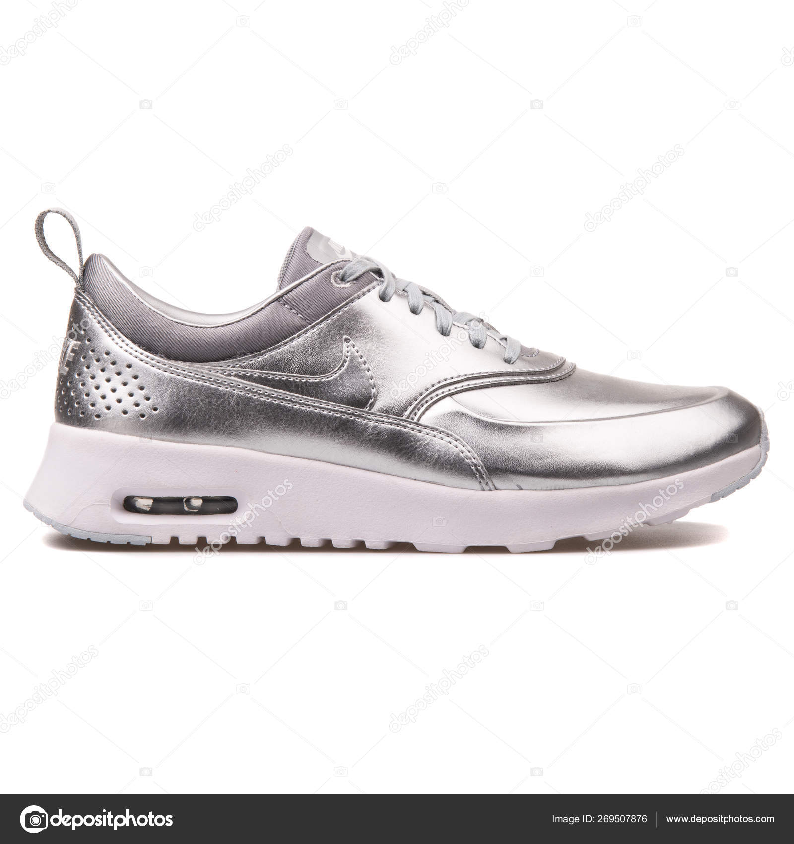 e1b6e199 Nike Air Max Thea Metallic silver sneaker – Stock Editorial Photo ...