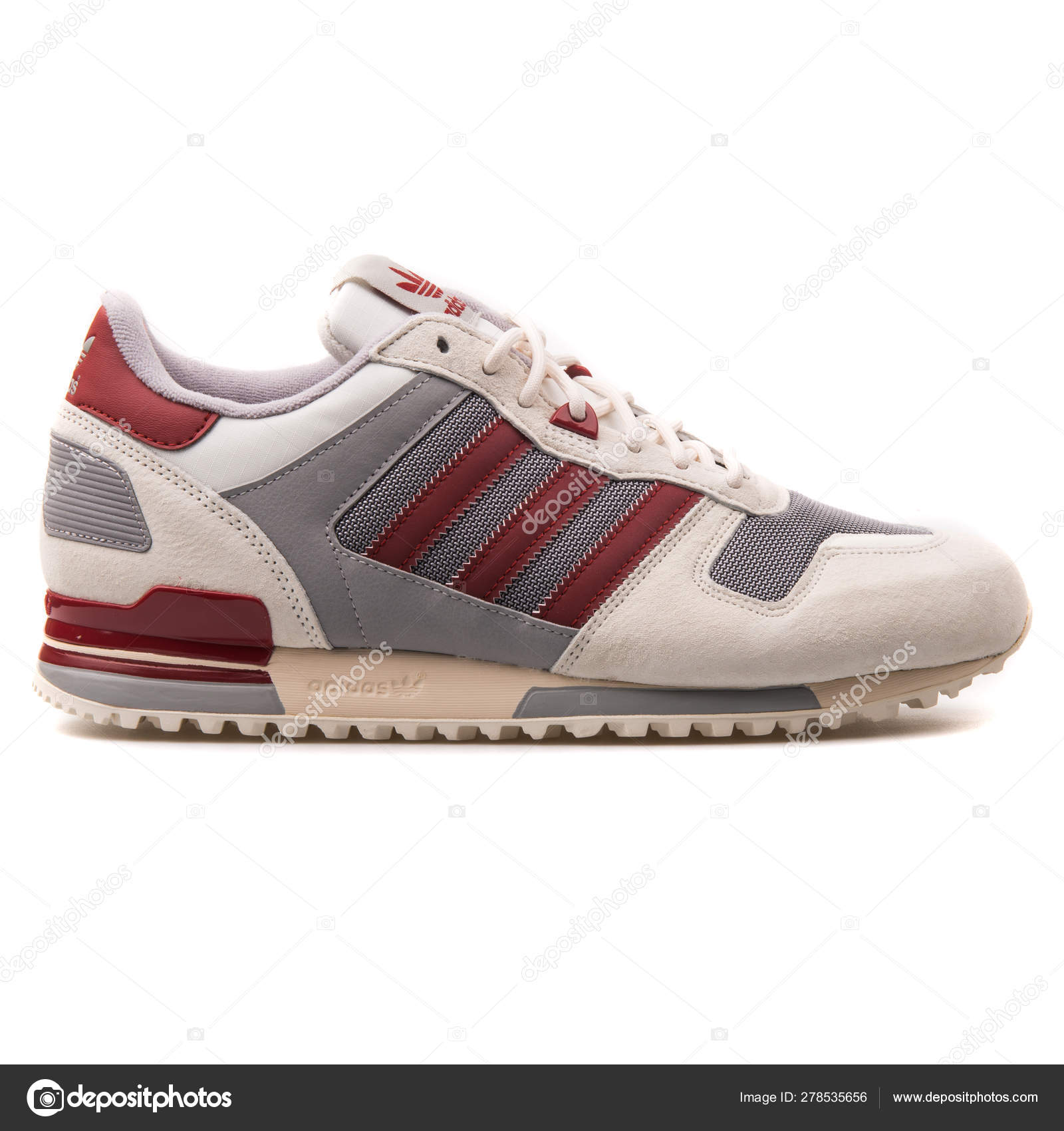Adidas ZX 700 white, grey and red
