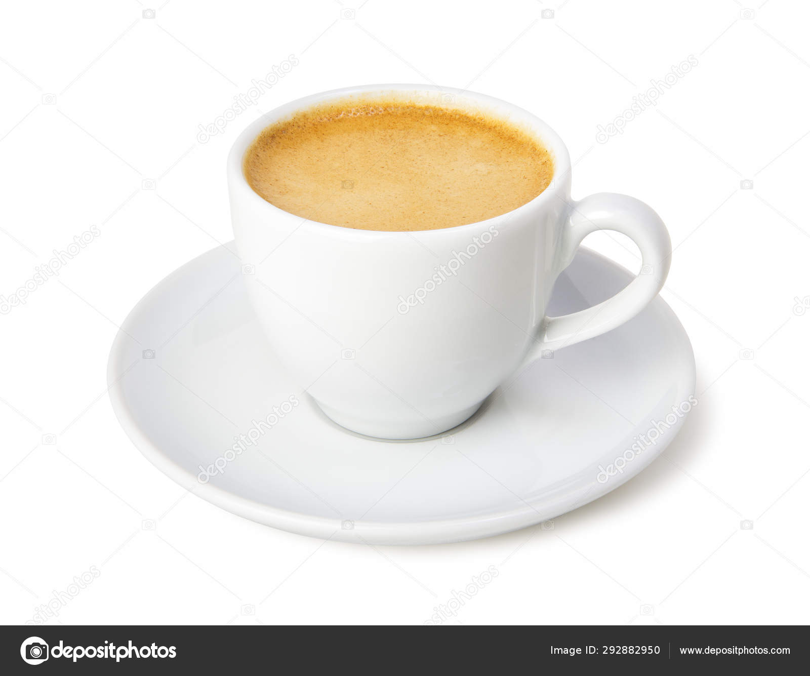 Espresso Coffee White Cup Saucer Isolated White Background Stock Photo Image By C Photoigor 292882950