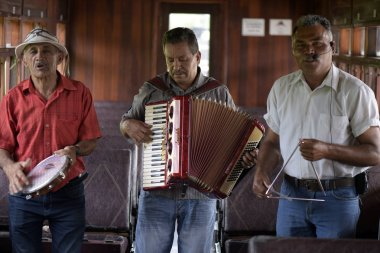 Guararema, SP, Brazil - November 4, 2017 - Musical trio, typical of the northeastern music of Brazil, always present in the famous Festas Juninas