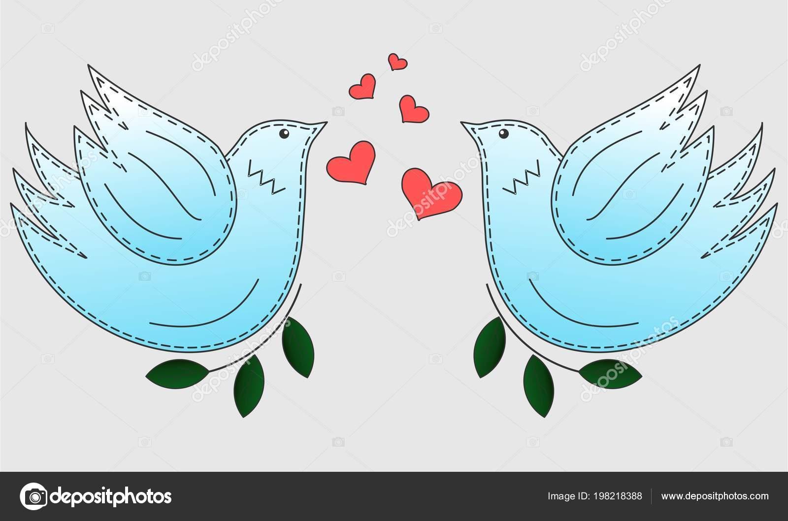 Bird The Dove Pigeon Symbol Of Peace Love Birds Stock Vector