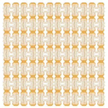 Japanese sea nettle, Chrysaora pacifica, in repeated pattern, in front of white background