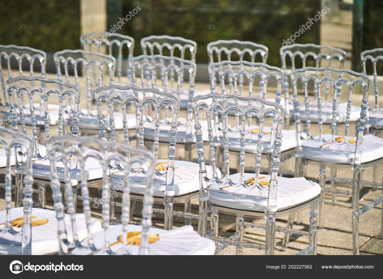 Back Side Transparent Ghost Chairs White Seat Line Modern Beach Stock Photo C Mrseksan 202227562