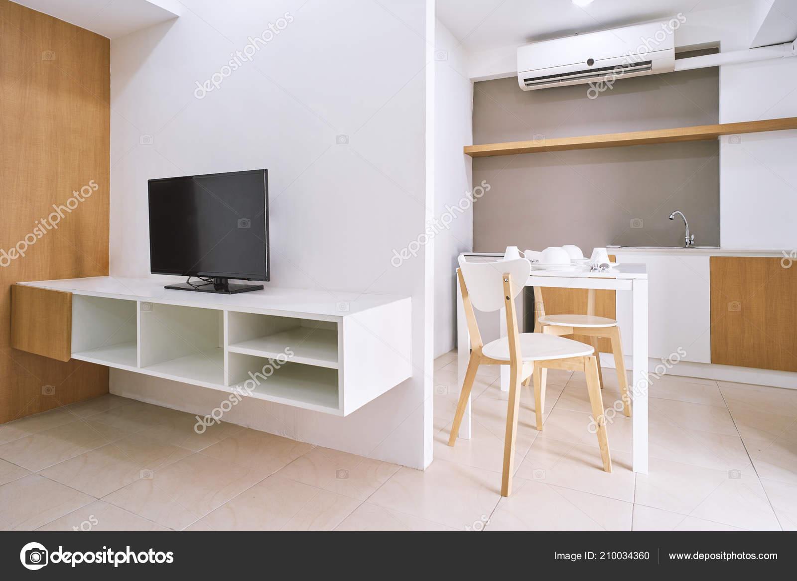 Concept van modern leven appartement kamer decoratie met