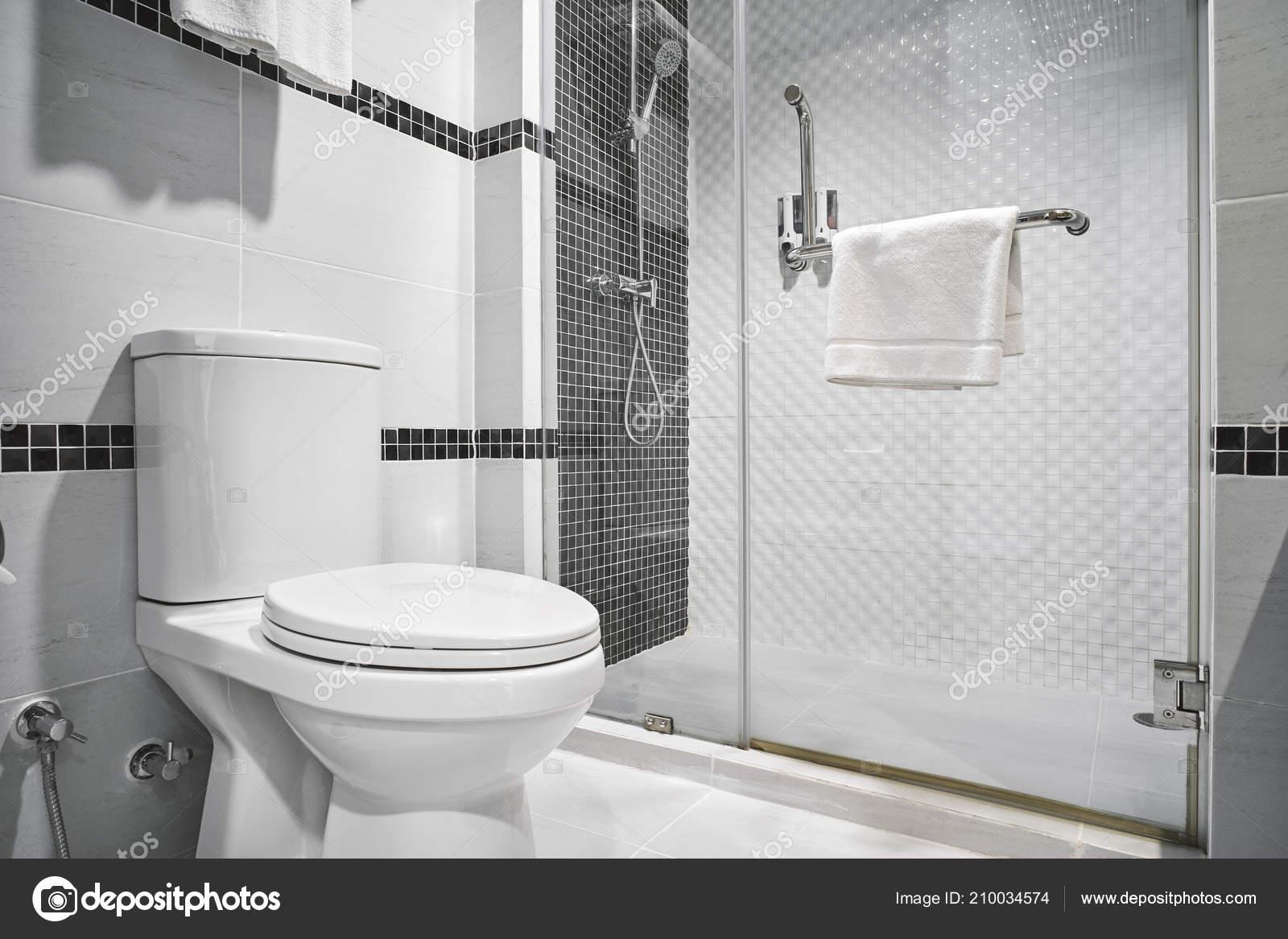 Konzept Der Modernen Dekoration Design Der Badezimmer Mit Toilette ...