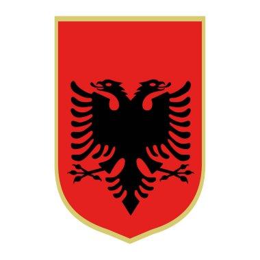 Symbol of Albania. National emblem