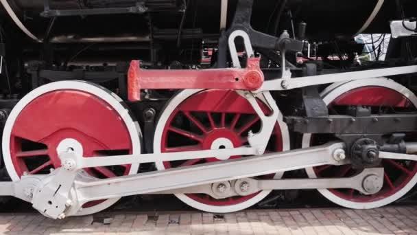 Ancient steam locomotive, Railway Museum in Ukraine
