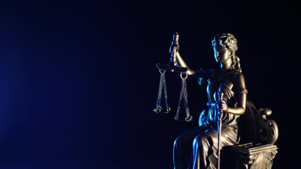 The Statue of Justice - dark blue background