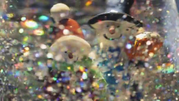Karácsonyi snow globe lámpa és világító absztrakt háttér