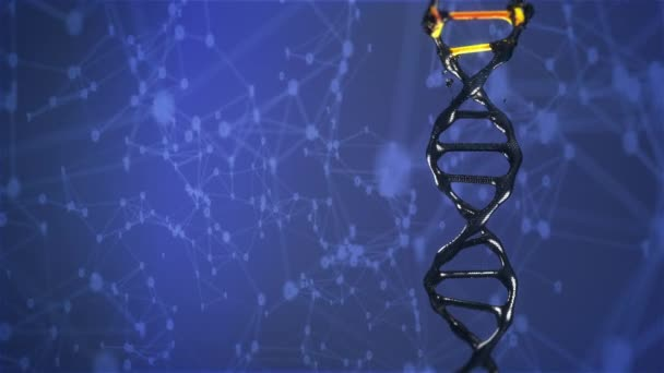 DNA molecule is destroyed and mutates rotating