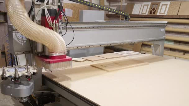 Modern woodworking machine with CNC - Time Lapse video