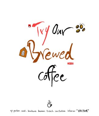 Cafe poster / Sketchy coffee illustration - vector