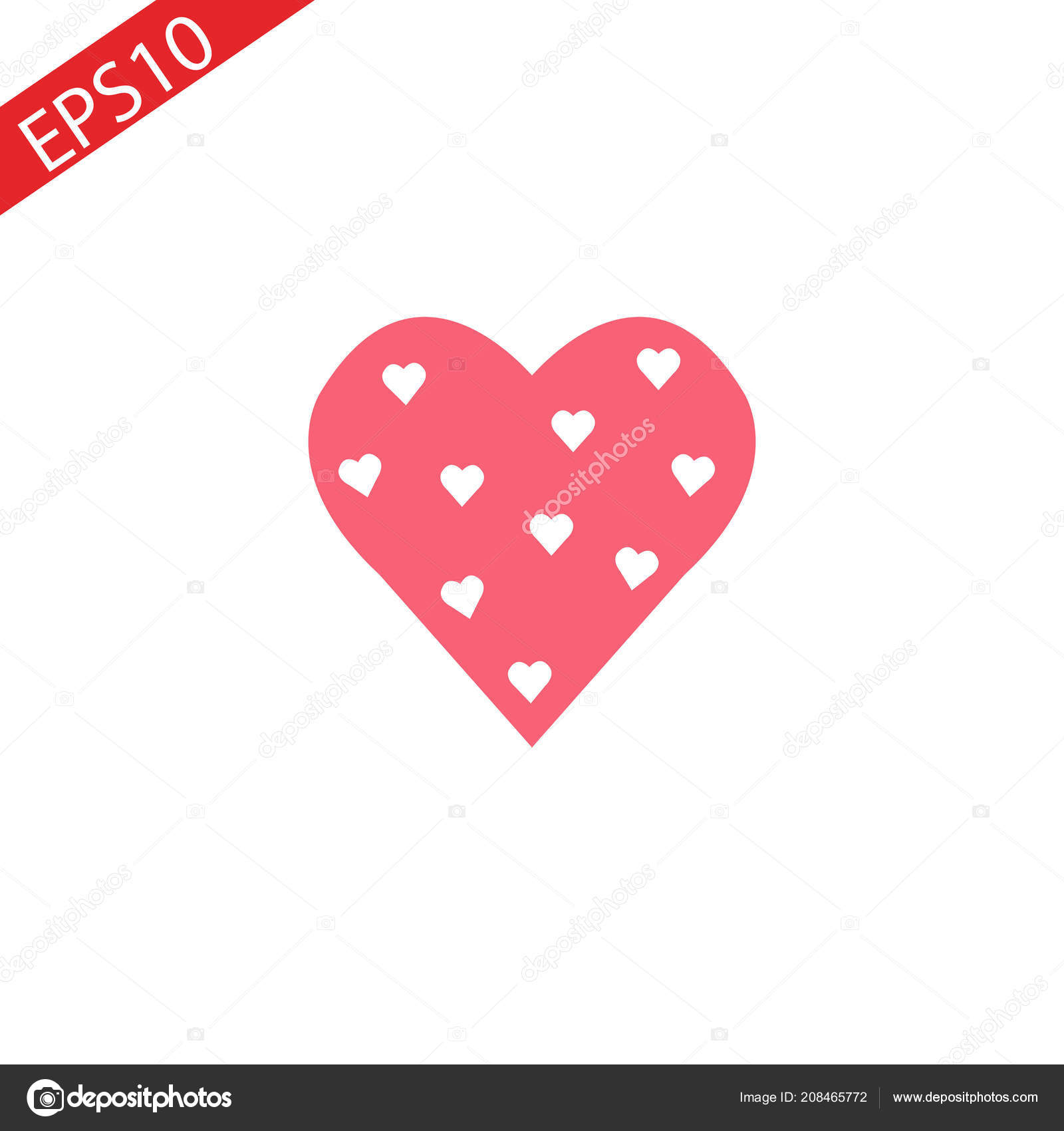 Heart Icon Vector Perfect Love Symbol Valentine Day Sign Emblem