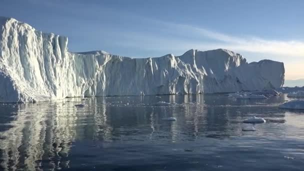 Nature and landscapes of Greenland. Travel on the scientific vessel among ices. Studying of a phenomenon of global warming. Ices