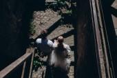 a menyasszony és a vőlegény, séta az óváros felülnézet
