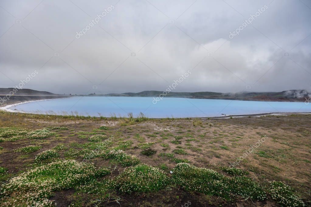 Myvatn nature baths near lake myvatn in the north of iceland europe
