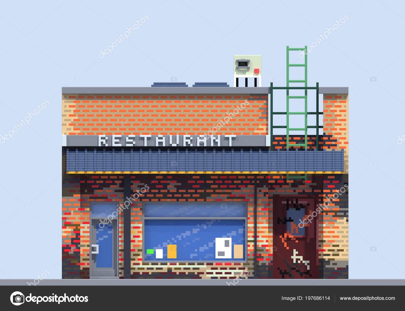 ᐈ Pixel Art City Street Fotos De Stock Imagenes Pixel Art Game Descargar En Depositphotos