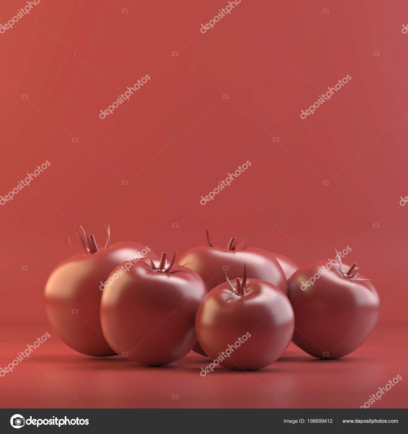 Rendering Tomatoes Design Mockup All Objects Background