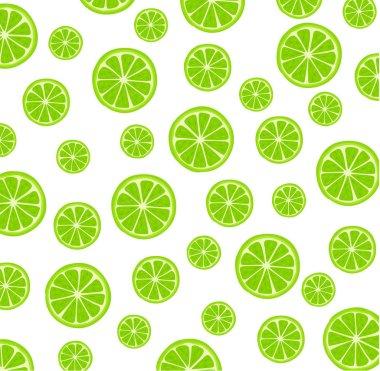 Summer card with sliced lemons. Vector illustration.