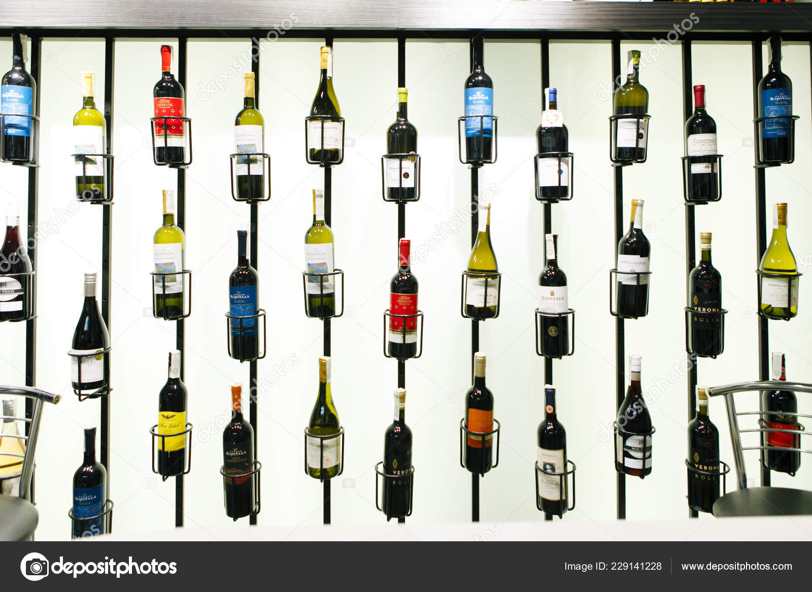 Rome Italy 02 03 2018 Expensive Bottles Of Wine On The