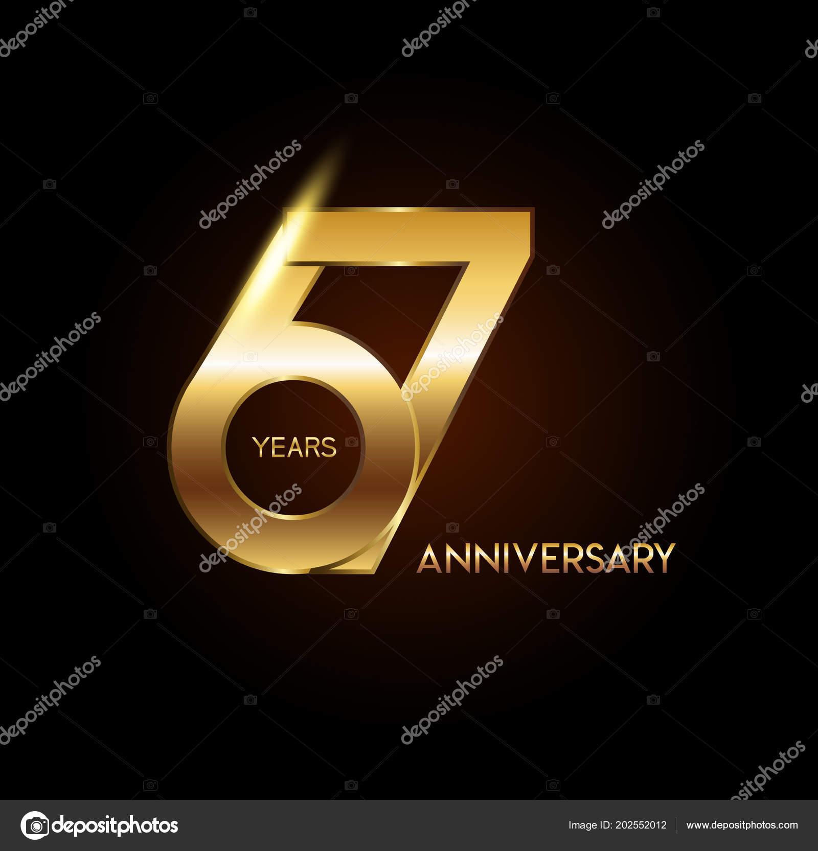 Yıl Yıldönümü Logosu Dekoratif Arka Plan Stok Vektör