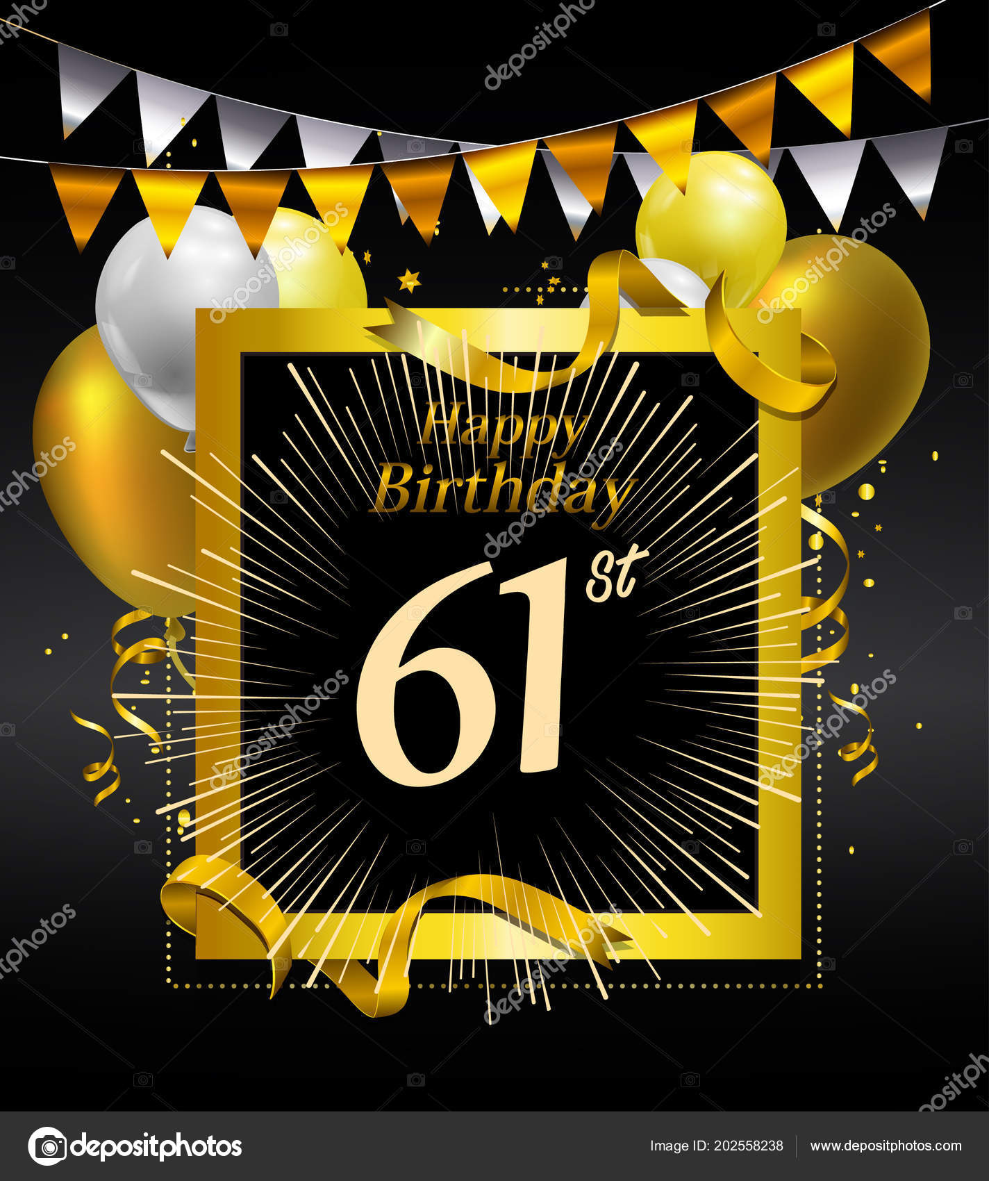 Years Anniversary Happy Birthday Logo Decorative Background Stock
