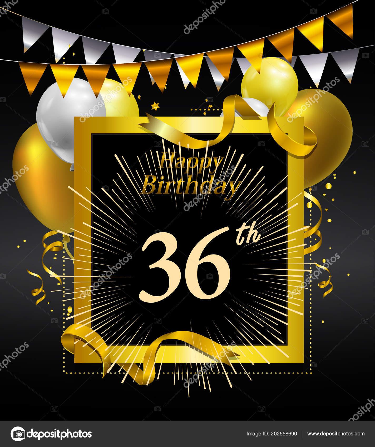 Jahre Jubiläum Alles Gute Zum Geburtstag Logo Dekorativer