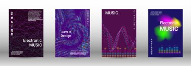Set of modern abstract musical backgrounds.
