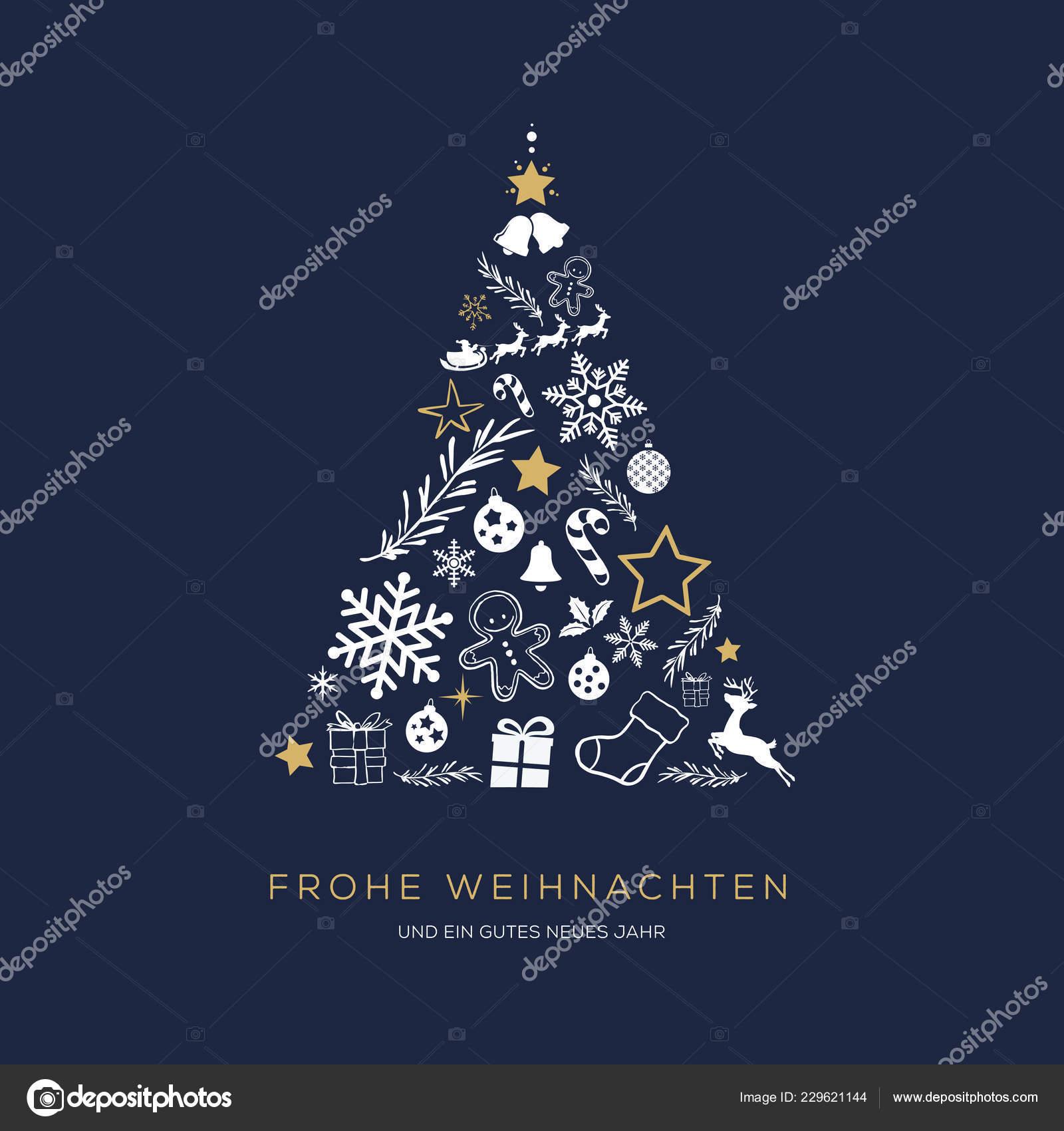 Greeting Card Concept Words Merry
