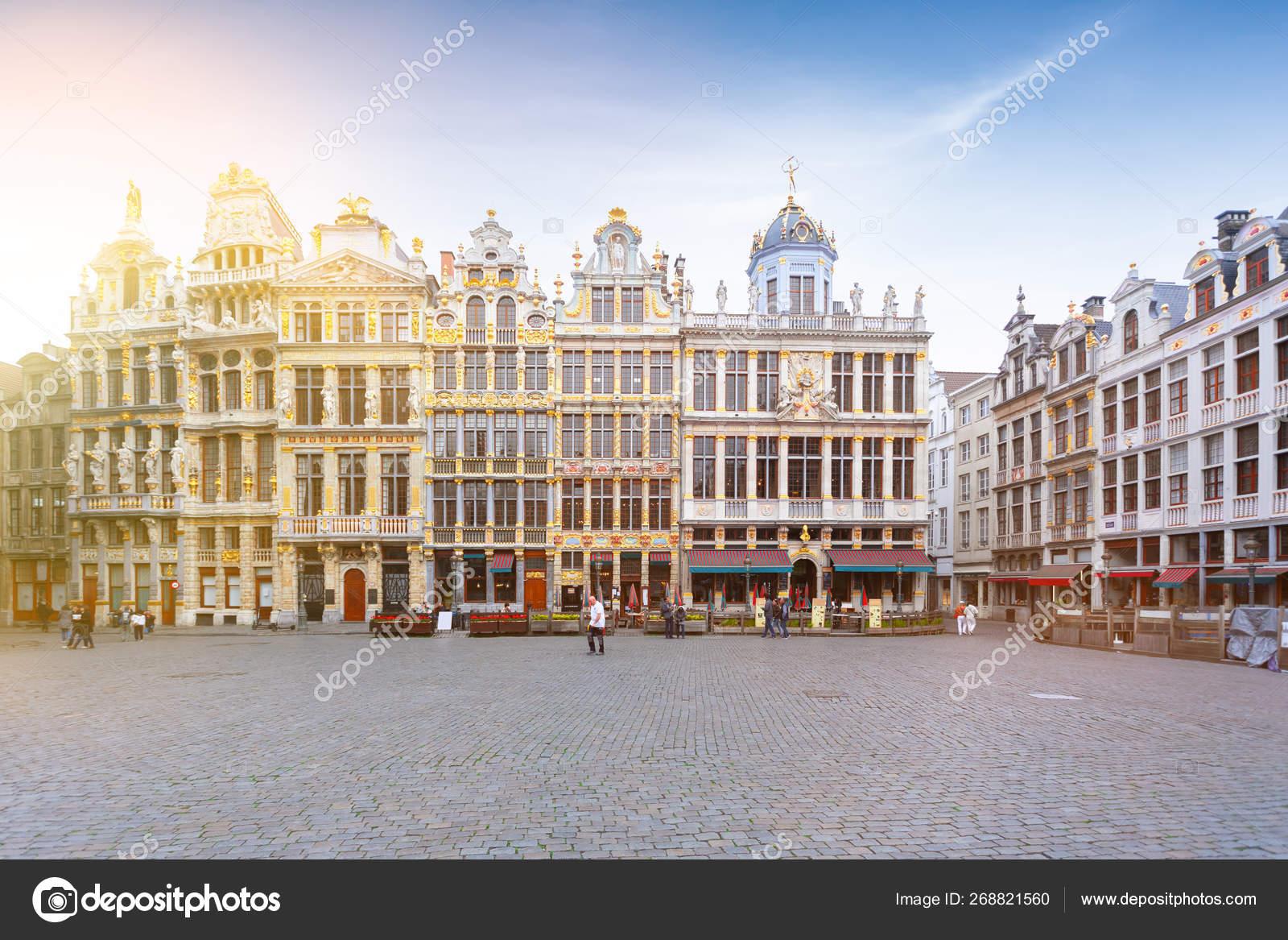 Grand Place Square In Brussels Famous Tourist Destination Belgium