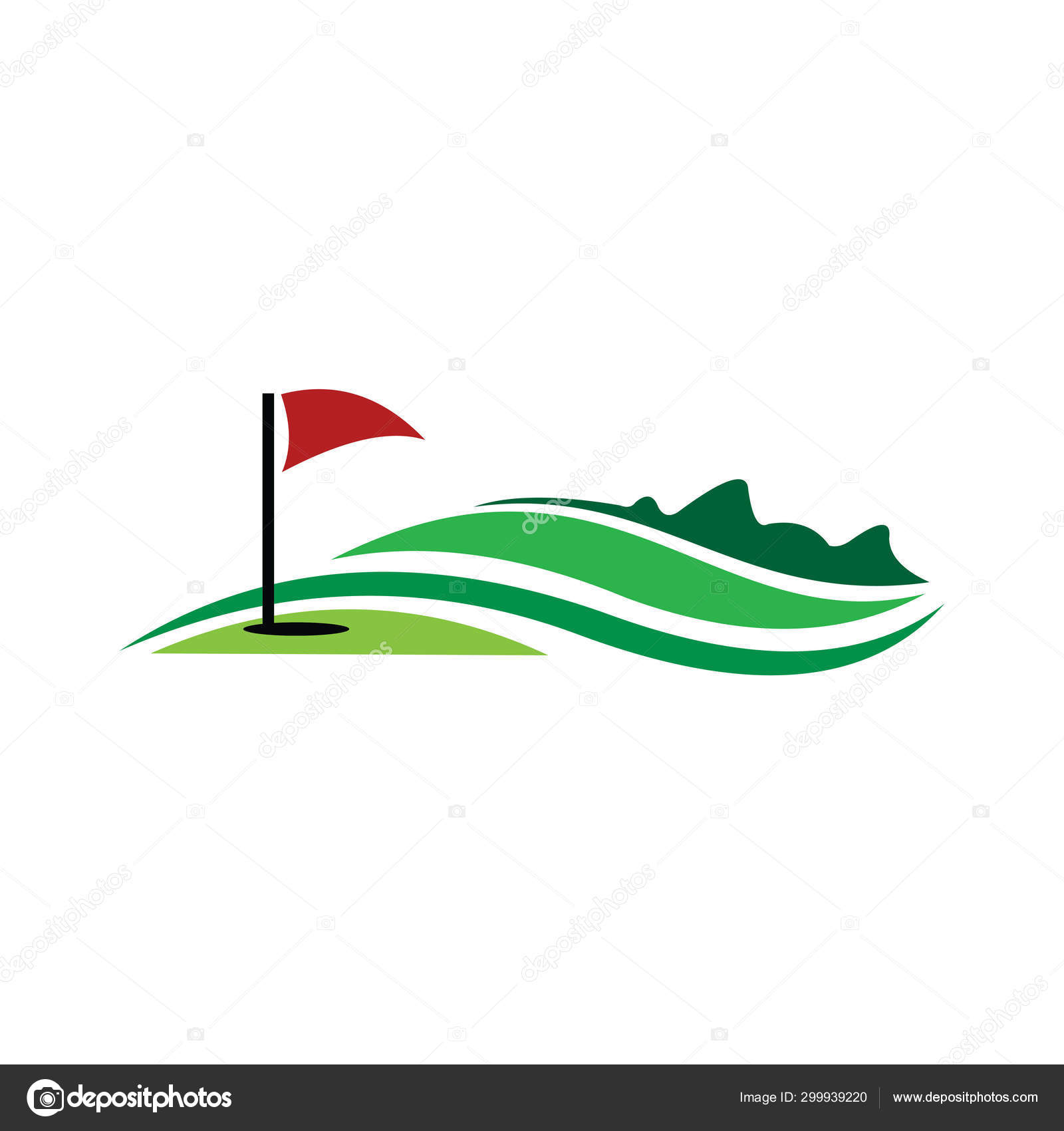 Golf logo  graphic design template vector illustration