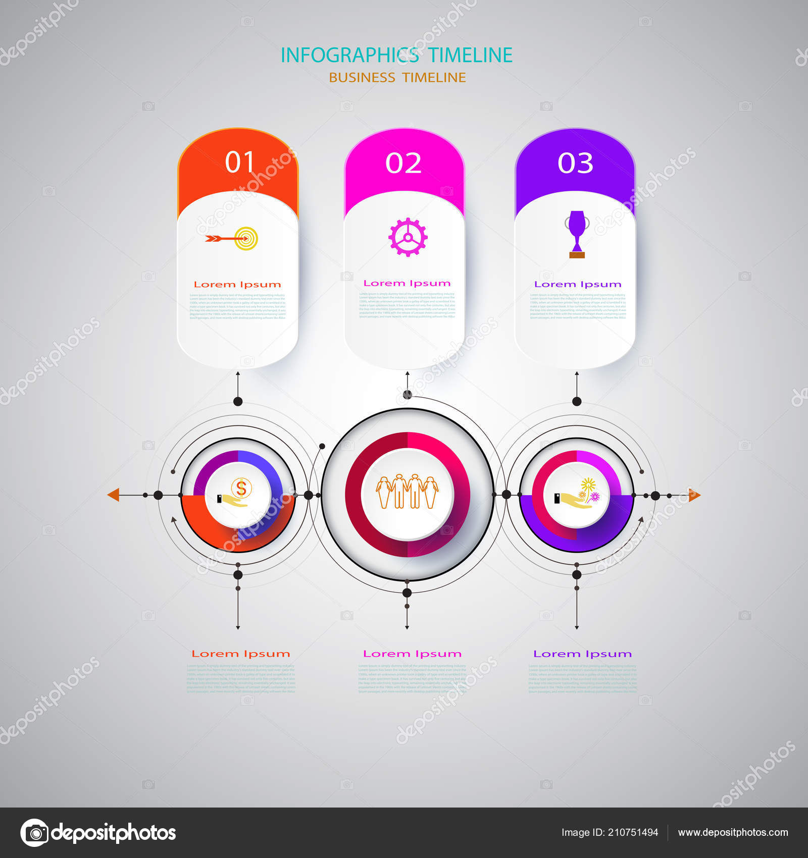 infographics design template timeline paper technology engineering