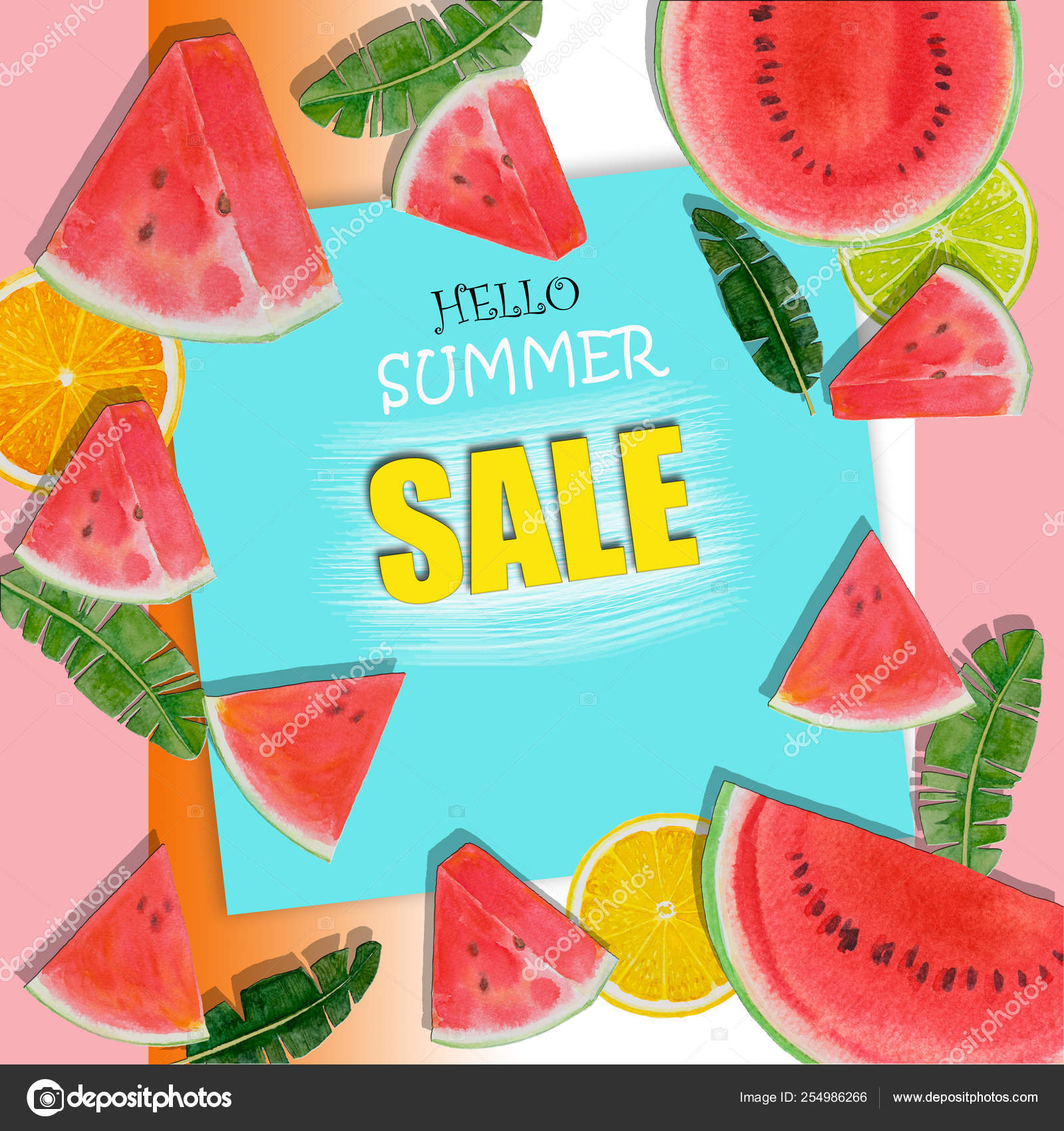 Summer Sale Background Layout For Banners Stock Photo C Paint Mm