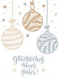 Vektor-Illustrationen von Weihnachtsgold, silbernen Schneeflocken und Kugelkarte auf weißem Hintergrund vertikale Gestaltung