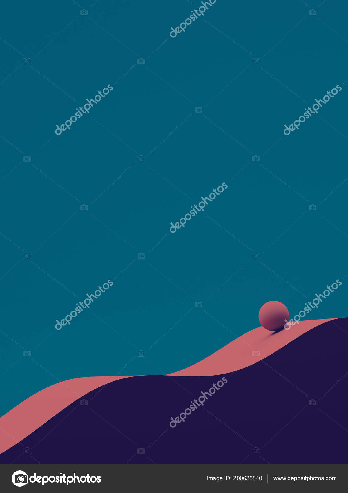 166ef4dc Abstract Geometry Composition Flow Background Wave Sphere Illustration Blue  Magenta — Stock Photo